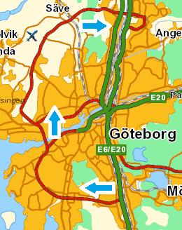 Vägvalets förslag till ringled - Götaringen.
